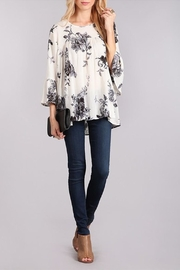 Chris & Carol Floral Bell-Sleeve Top - Product Mini Image