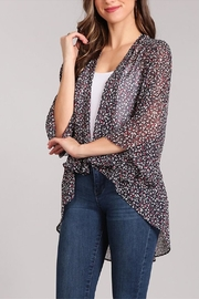 Chris & Carol Floral Chiffon Cardigan - Product Mini Image