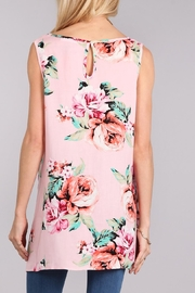 Chris & Carol Floral High-Low Top - Front full body