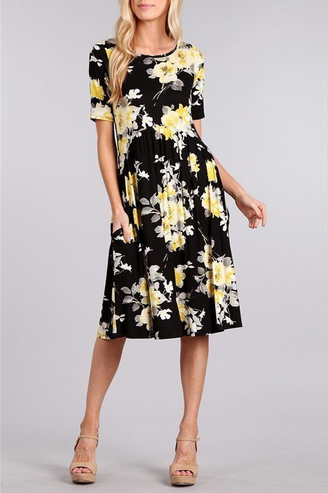 Chris & Carol Floral Printed Dress - Main Image