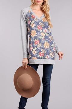 Shoptiques Product: Floral Long Sleeve Sweater