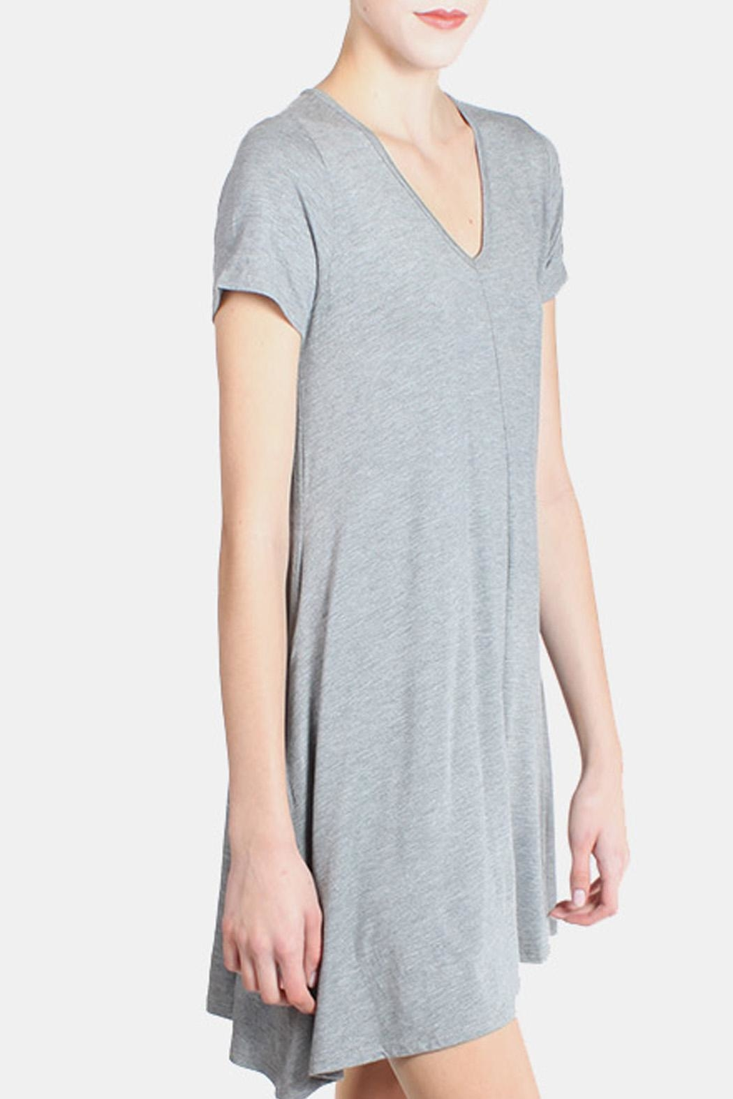 Chris & Carol Grey Essential Jersey Dress - Side Cropped Image