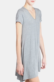 Chris & Carol Grey Essential Jersey Dress - Side cropped