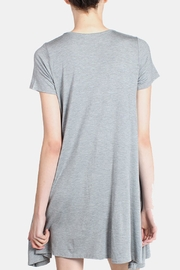 Chris & Carol Grey Essential Jersey Dress - Back cropped