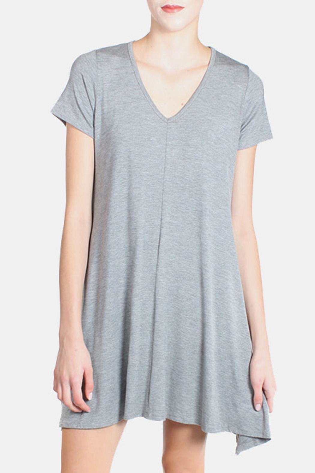 Chris & Carol Grey Essential Jersey Dress - Front Full Image
