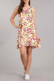 Chris & Carol Ivory Floral A-Line - Front cropped