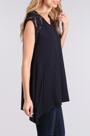 Chris & Carol Lace Detailed Top - Front full body