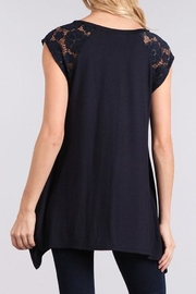 Chris & Carol Lace Detailed Top - Side cropped