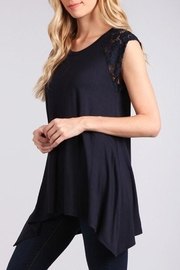 Chris & Carol Lace Detailed Top - Front cropped