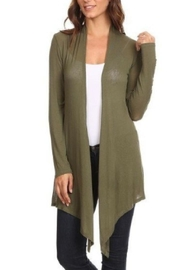 Chris & Carol Light-Weight Cardigan Olive - Product Mini Image