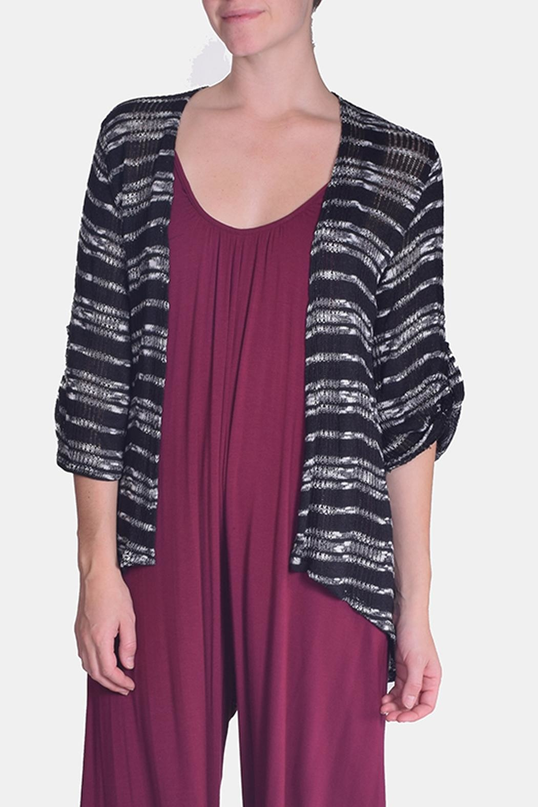 Chris & Carol Midnight Striped Cardigan - Front Full Image