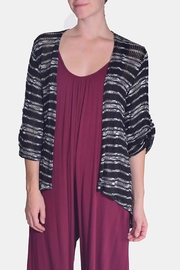 Chris & Carol Midnight Striped Cardigan - Front full body