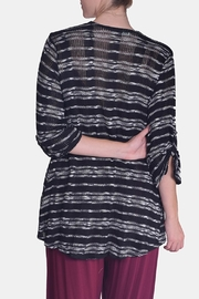 Chris & Carol Midnight Striped Cardigan - Back cropped
