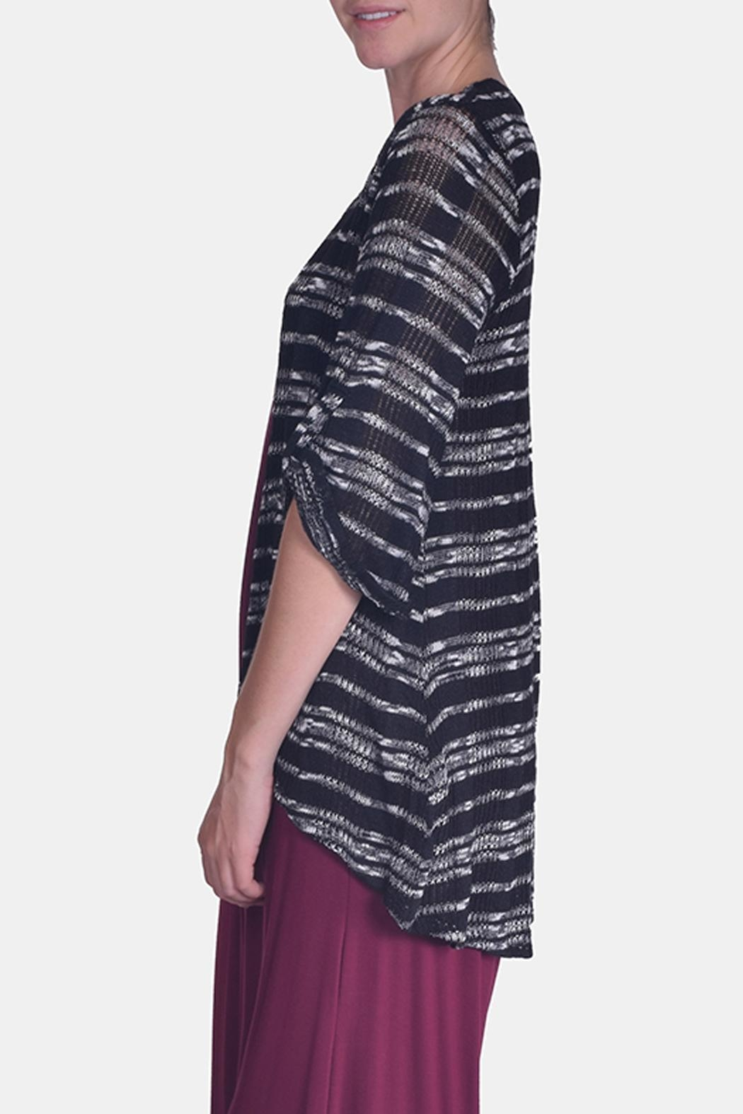 Chris & Carol Midnight Striped Cardigan - Side Cropped Image