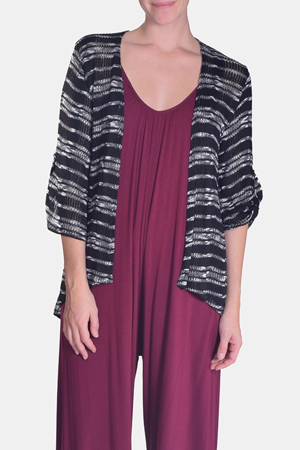 Chris & Carol Midnight Striped Cardigan - Main Image
