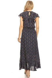 Chris & Carol Navy Dainty Floral Everyday Maxi - Side cropped