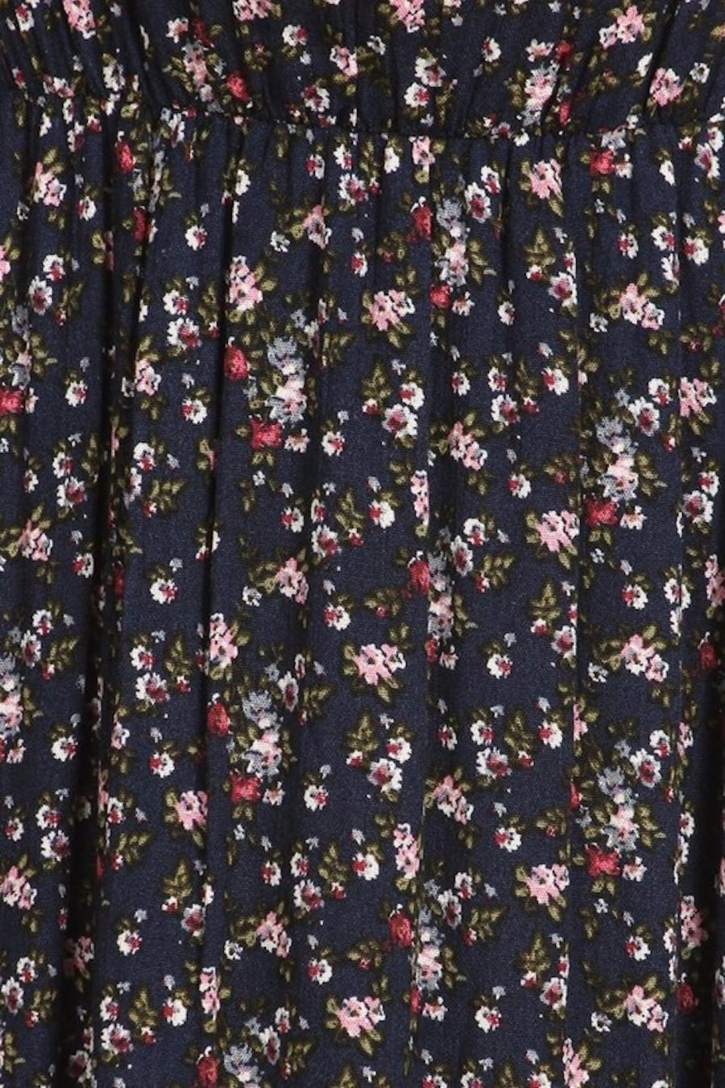 Chris & Carol Navy Dainty Floral Everyday Maxi - Back Cropped Image