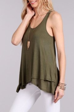 Shoptiques Product: Olive Cross Over Tank