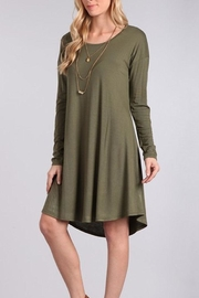 Chris & Carol Olive Green Dress - Product Mini Image
