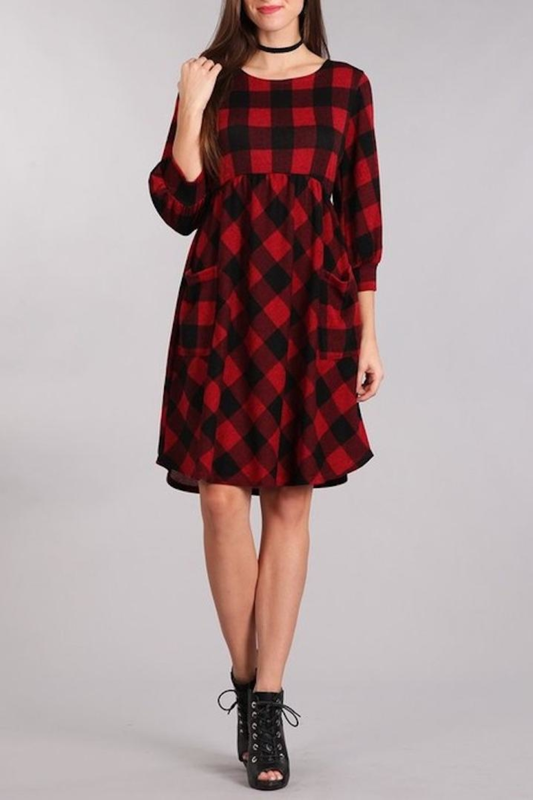 Chris & Carol Perect Plaid Dress - Main Image