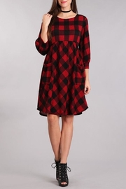 Chris & Carol Perect Plaid Dress - Front cropped