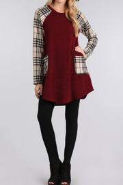 Chris & Carol Plaid Sweater Tunic - Product Mini Image