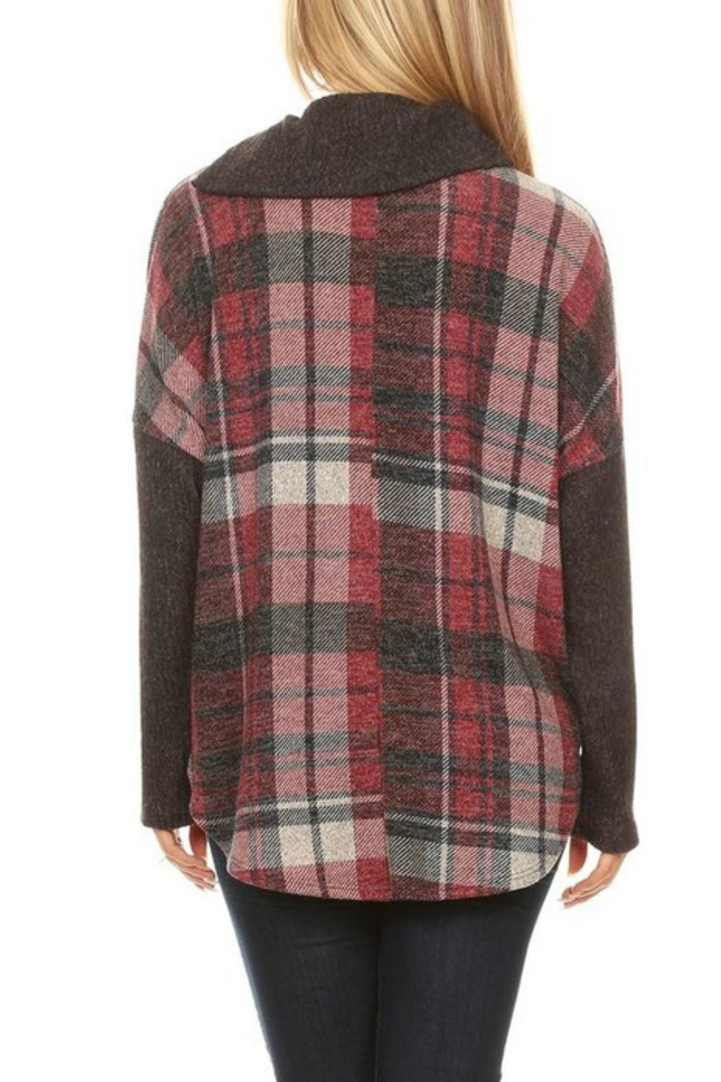 Chris & Carol Plaid Top Tunic - Front Full Image