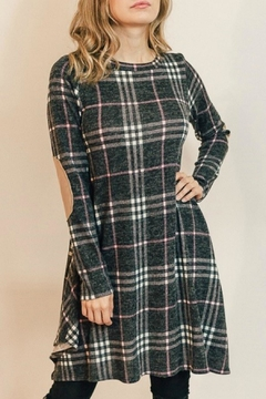 Shoptiques Product: Pretty-In-Pink Plaid Dress