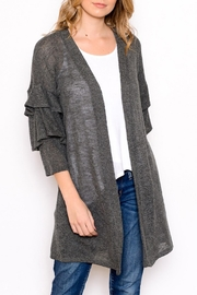 Chris & Carol Ruffle Knit Cardigan - Product Mini Image