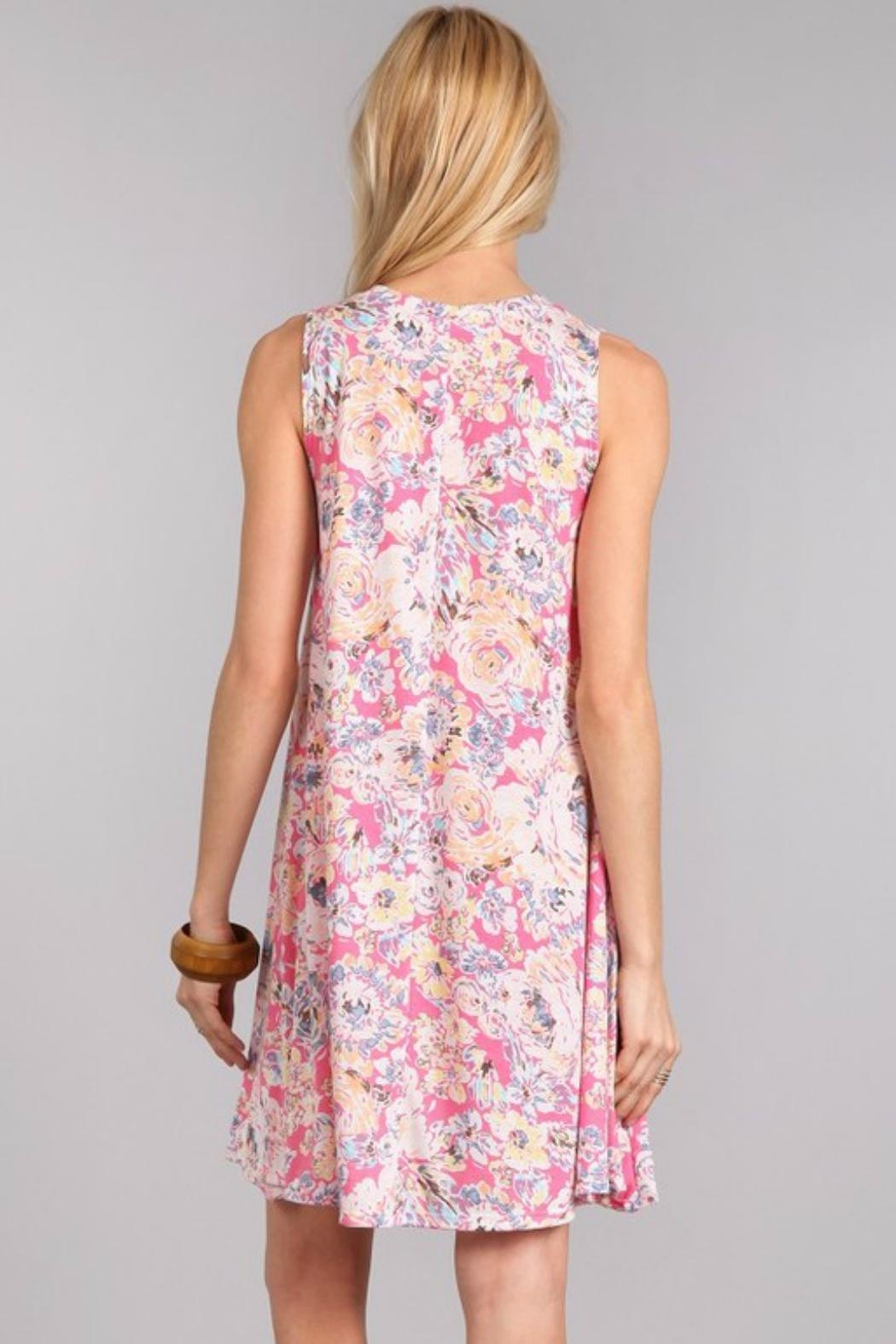 Chris & Carol Sleeveless Floral Aline - Front Full Image