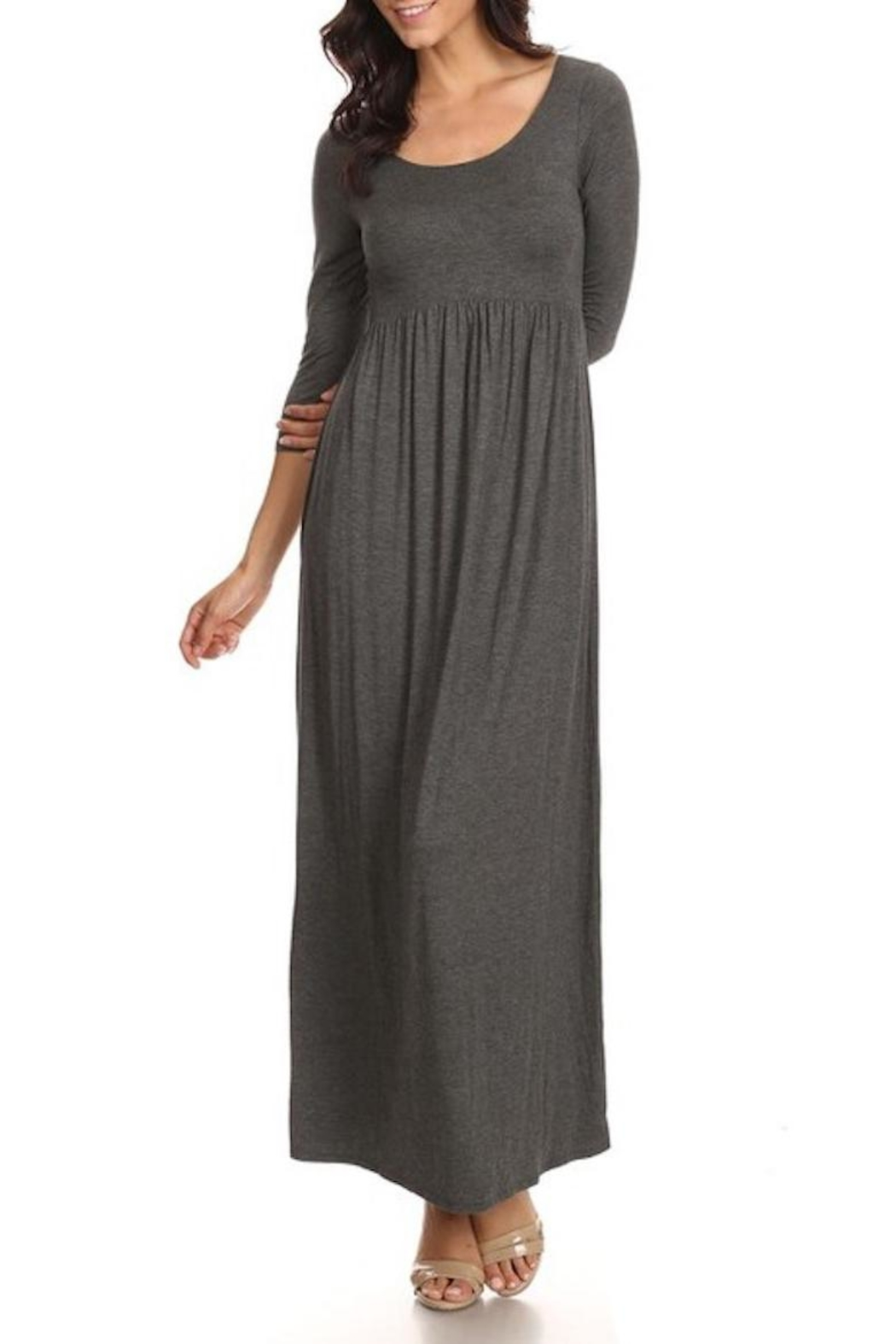 Chris & Carol Soft Grey Maxi - Front Cropped Image
