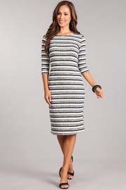 Chris & Carol Striped Knit Dress - Front full body