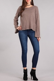 Chris & Carol Sweet-Escape Marled  Top - Front cropped