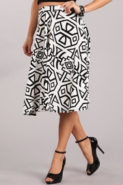 Chris & Carol White-Black Print Skirt - Product Mini Image