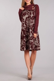 Chris & Carol Wine Floral Dress - Front cropped