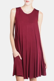 Chris & Carol Wine Swing Dress - Product Mini Image