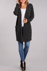 Chris & Carol Apparel Charcoal Pocket Cardigan - Product Mini Image