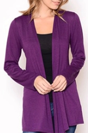 Chris & Carol Apparel Purple Knit Cardigan - Product Mini Image