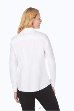 Foxcroft Chrissy Fitted Long Sleeve Blouse - Alternate List Image