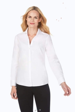 Foxcroft Chrissy Fitted Long Sleeve Blouse - Product List Image