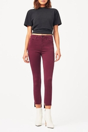 DL 1961 Chrissy Maroon Pant - Product Mini Image