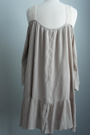Christian caliendo Cold-Shoulder Gauze Tunic - Side cropped