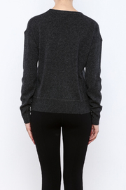 Shoptiques Product: Charcoal Cashmere Sweater - Back cropped