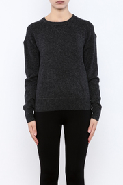 Shoptiques Product: Charcoal Cashmere Sweater - Side cropped