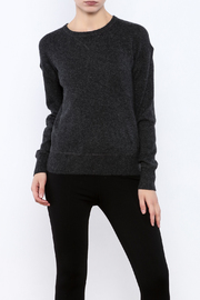 Shoptiques Product: Charcoal Cashmere Sweater - Front cropped
