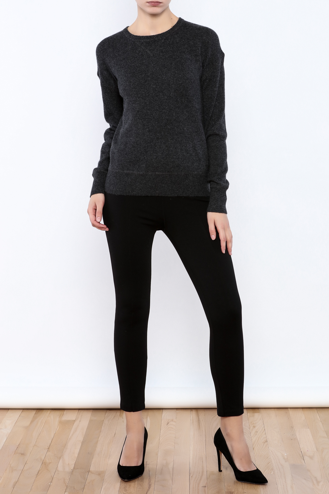 Charcoal Cashmere Sweater
