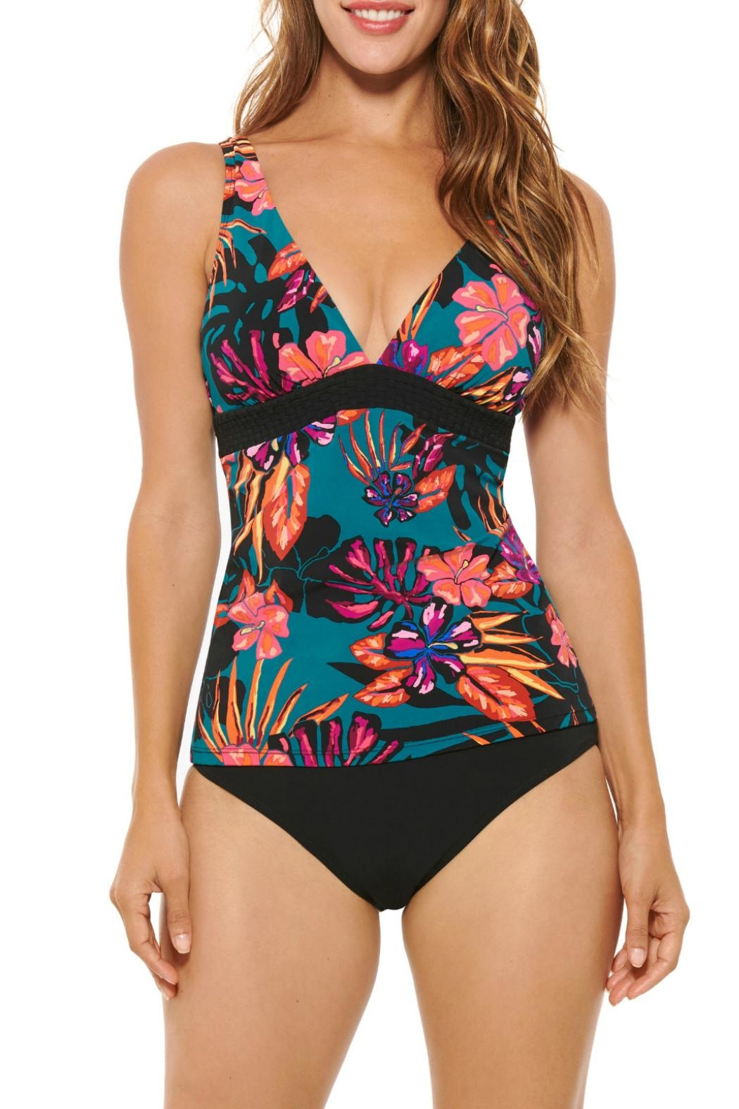 Christina Swimwear Blooms Tankini Top - Front Cropped Image