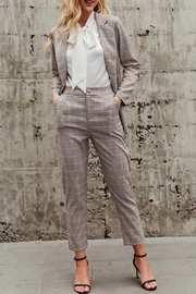 May Blue Christine Plaid Cigarette Pant - Front cropped