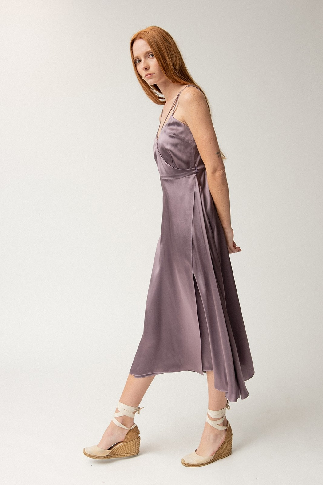 Christine Alcalay Strappy Wrap Dress - Front Full Image