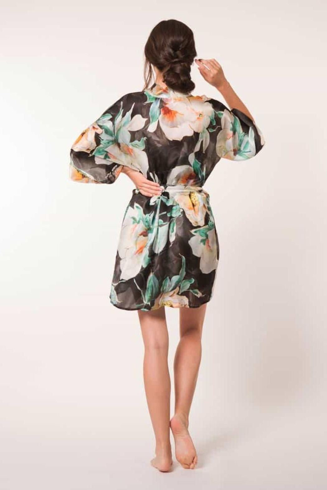 Christine of Vancouver Ophelia Silk Robe - Front Full Image